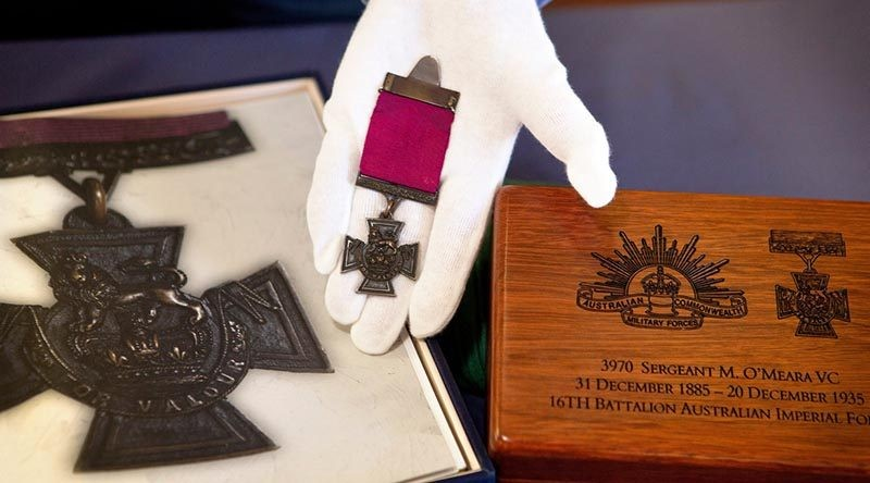 Presentation Case for O'Meara's Victoria Cross